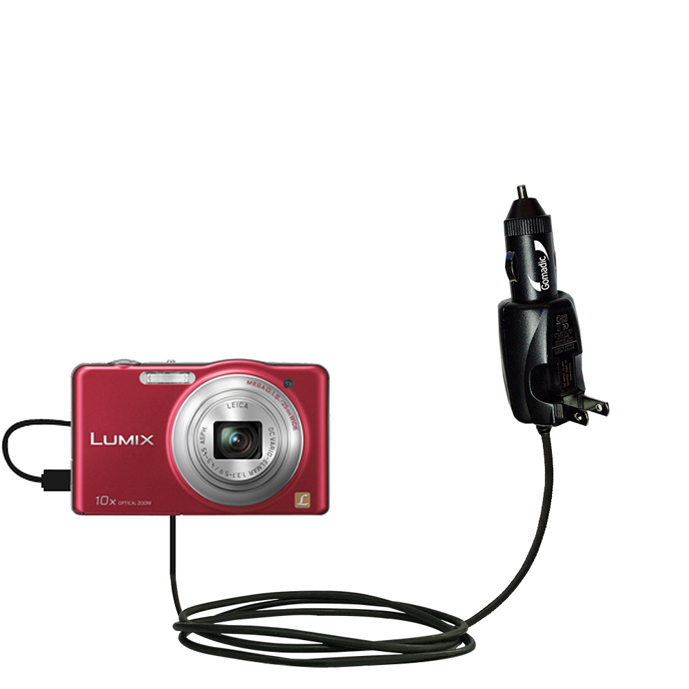 Car & Home 2 in 1 Charger compatible with the Panasonic Lumix DMC-SZ1R