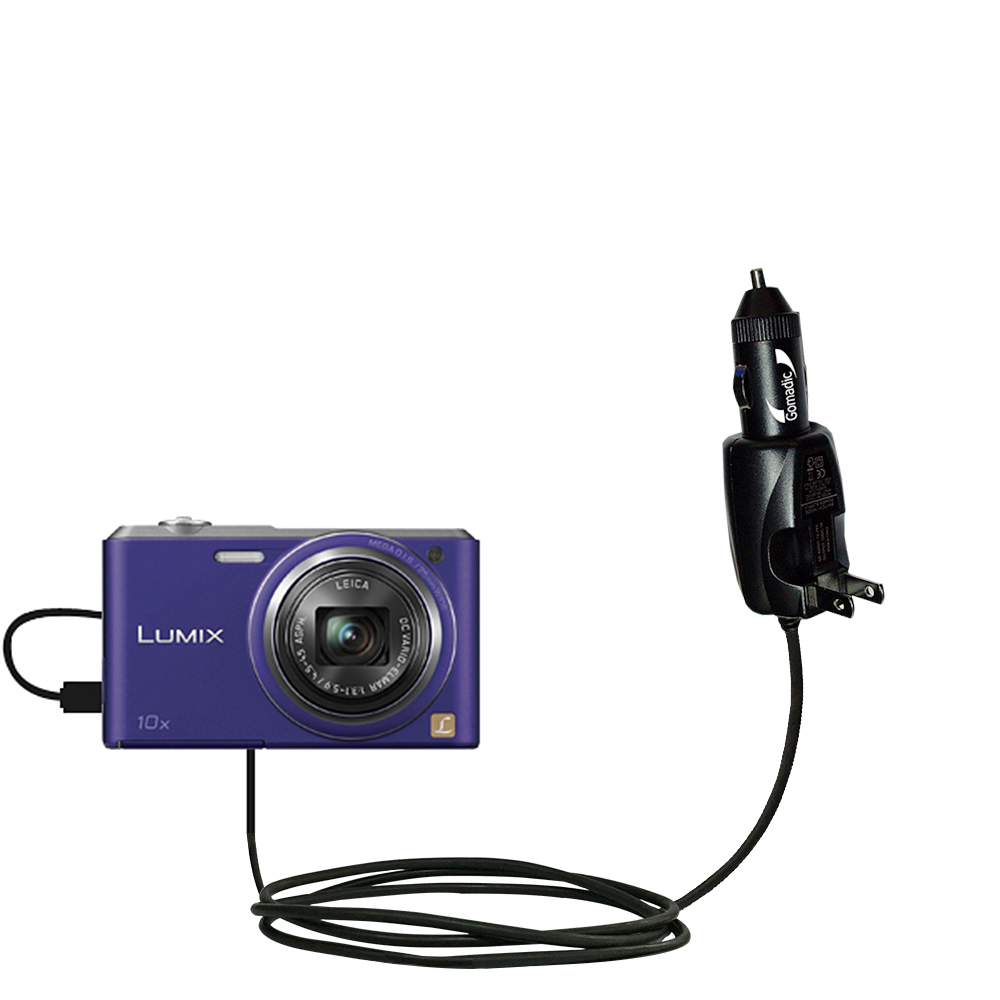 Car & Home 2 in 1 Charger compatible with the Panasonic Lumix DMC-SZ3V