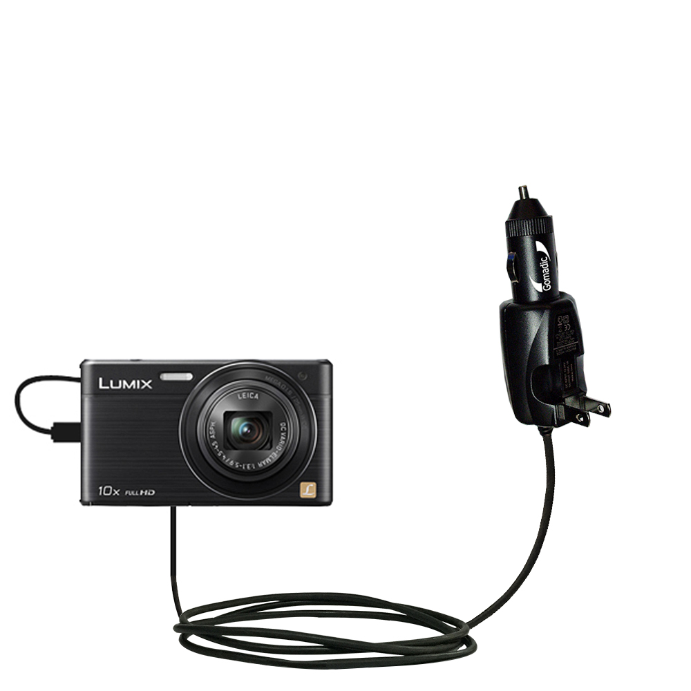Car & Home 2 in 1 Charger compatible with the Panasonic Lumix DMC-SZ9