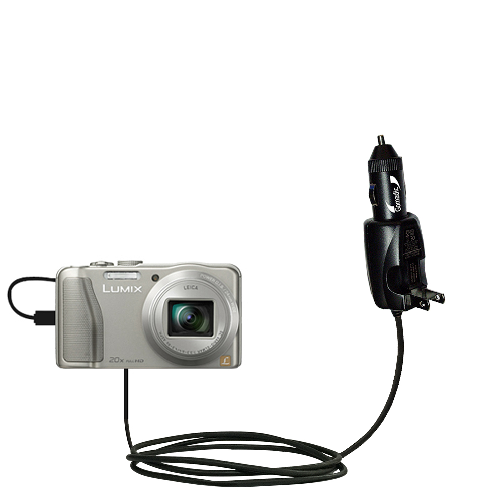 Car & Home 2 in 1 Charger compatible with the Panasonic Lumix DMC-TZ30 / DMC-TZ35
