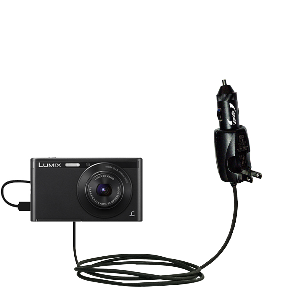 Car & Home 2 in 1 Charger compatible with the Panasonic Lumix DMC-XS1K