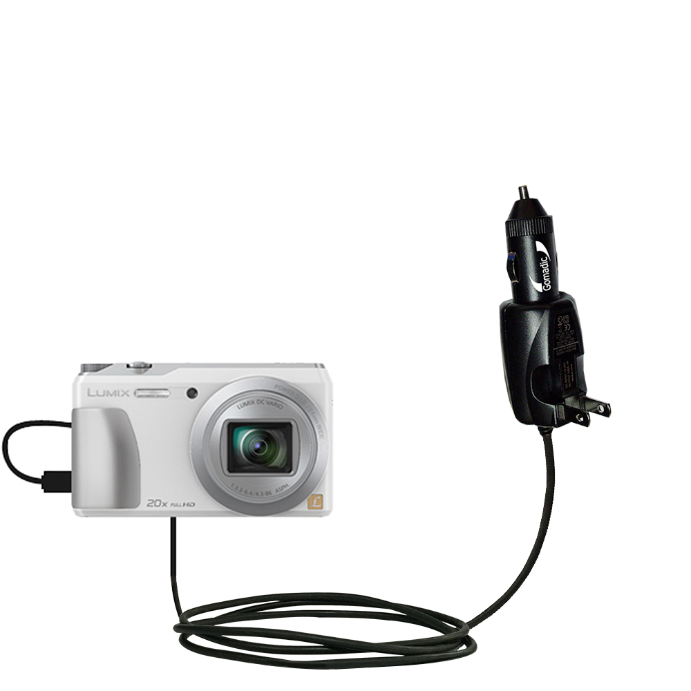Car & Home 2 in 1 Charger compatible with the Panasonic Lumix DMC-ZS20W