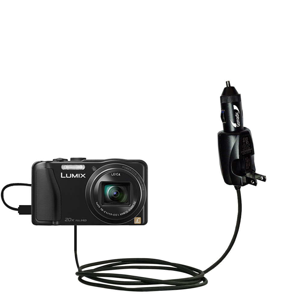 Car & Home 2 in 1 Charger compatible with the Panasonic Lumix DMC-ZS25K