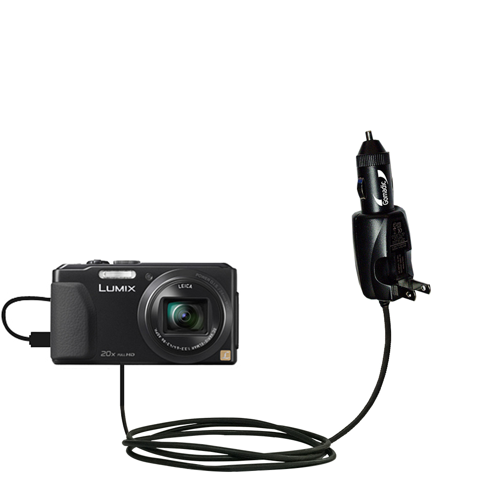Car & Home 2 in 1 Charger compatible with the Panasonic Lumix DMC-ZS30K