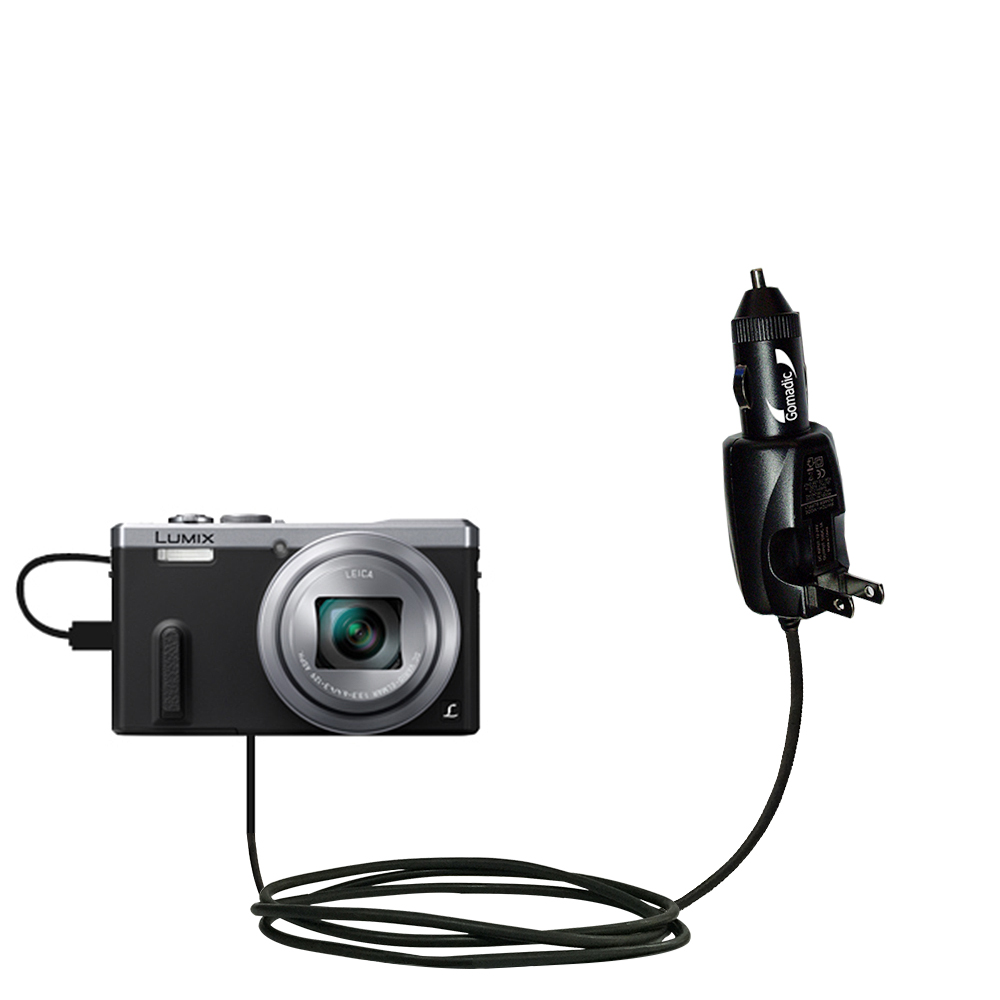 Car & Home 2 in 1 Charger compatible with the Panasonic Lumix DMC-ZS40