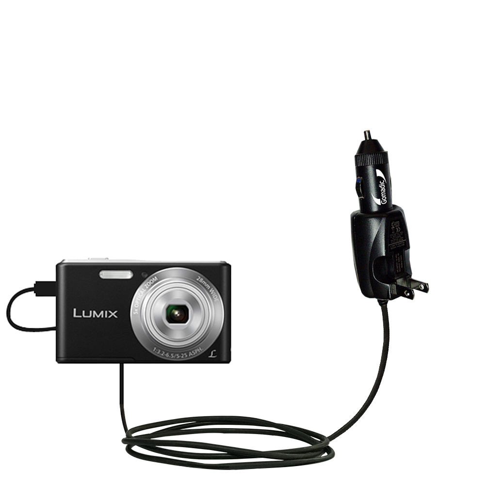 Car & Home 2 in 1 Charger compatible with the Panasonic Lumix F5 / DMC-F5