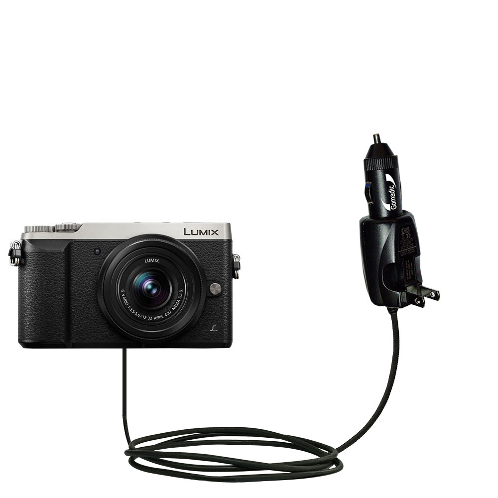 Car & Home 2 in 1 Charger compatible with the Panasonic LUMIX GX85