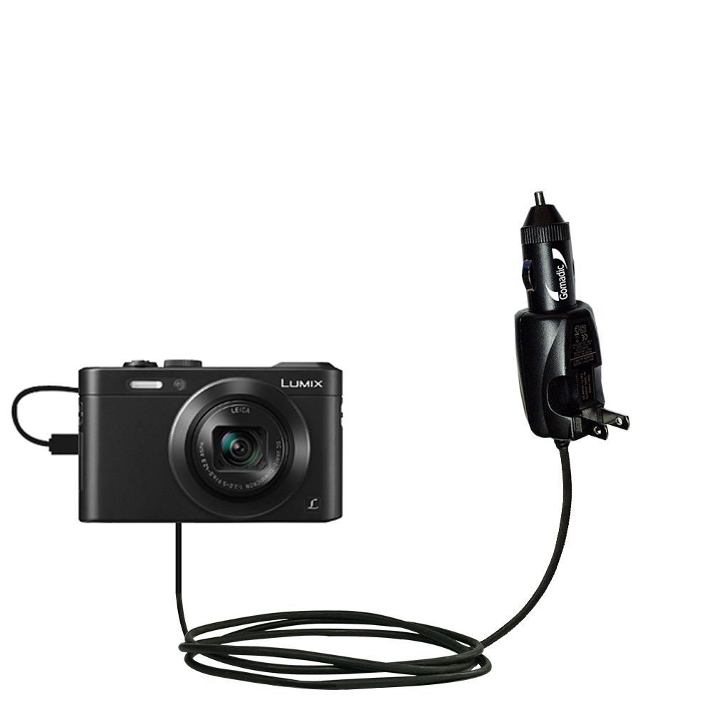 Car & Home 2 in 1 Charger compatible with the Panasonic Lumix LF1 / DMC-LF1