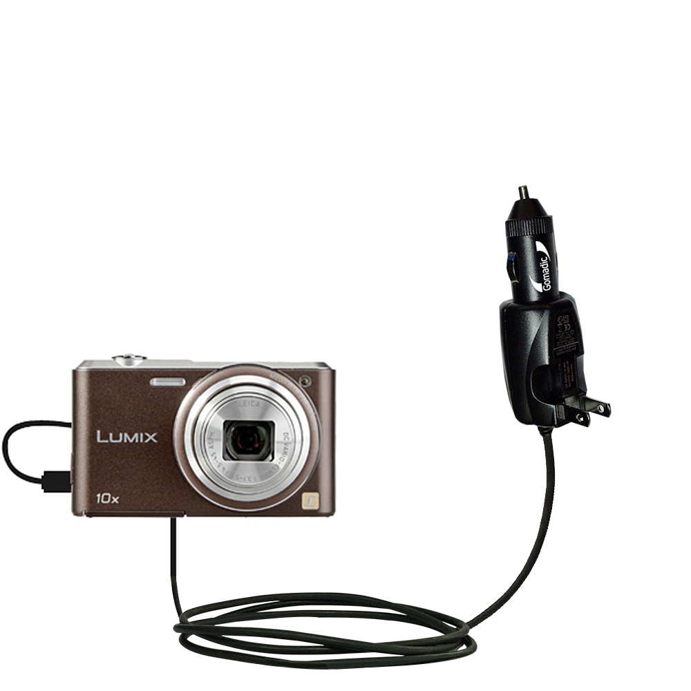 Car & Home 2 in 1 Charger compatible with the Panasonic Lumix SZ3 / DMC-SZ3