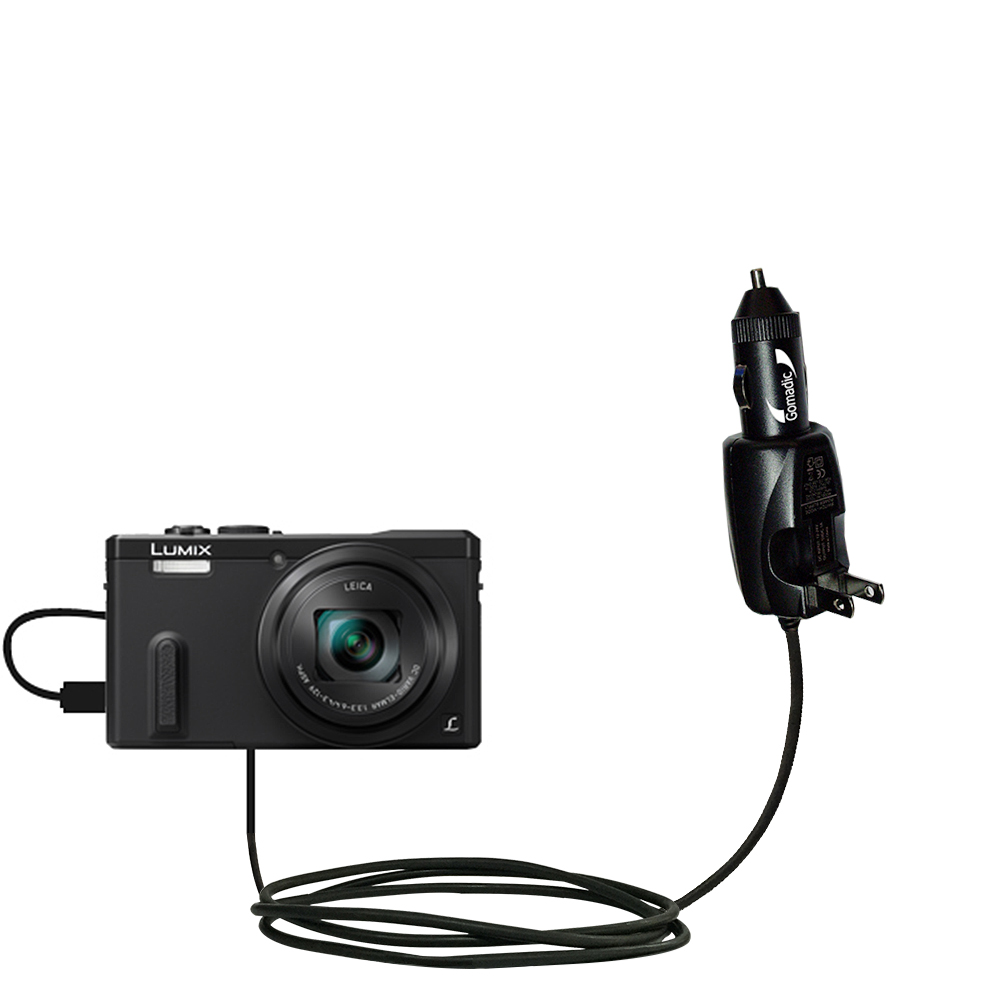 Car & Home 2 in 1 Charger compatible with the Panasonic Lumix ZS19 / ZS20