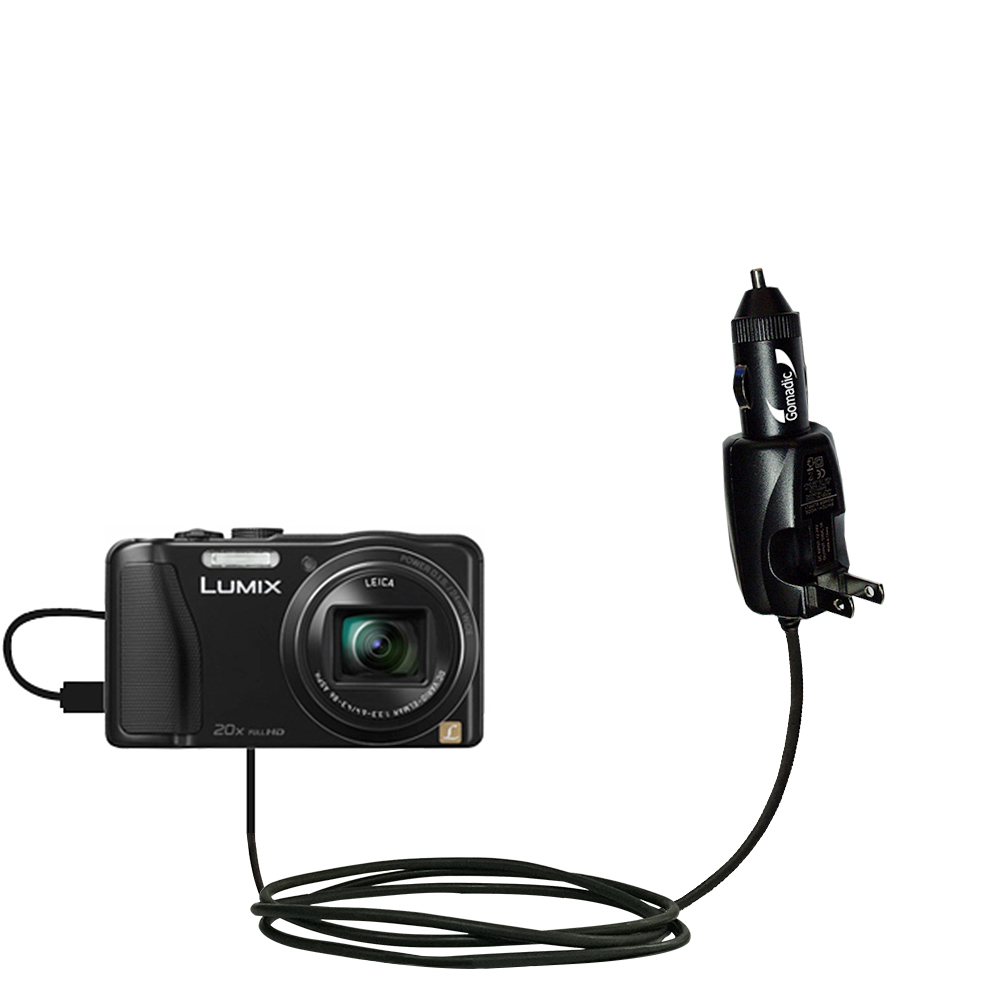 Car & Home 2 in 1 Charger compatible with the Panasonic Lumix ZS25 / ZS30