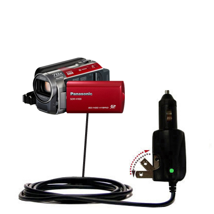 Car & Home 2 in 1 Charger compatible with the Panasonic SDR-H100 Camcorder