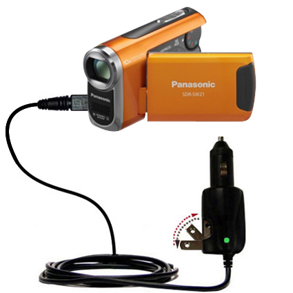 Car & Home 2 in 1 Charger compatible with the Panasonic SDR-SW21 Video Camera