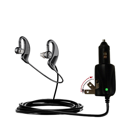 Car & Home 2 in 1 Charger compatible with the Plantronics BackBeat