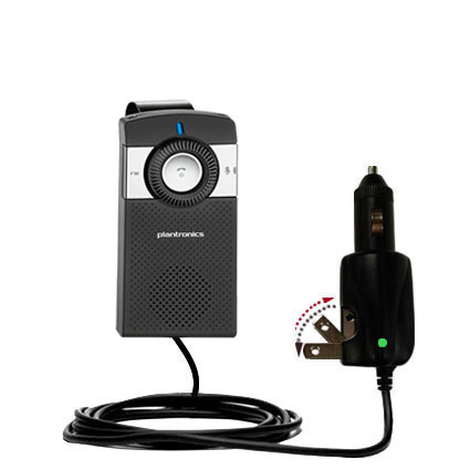 Car & Home 2 in 1 Charger compatible with the Plantronics K100 In-Car Speakerphone