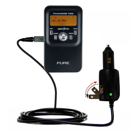 Car & Home 2 in 1 Charger compatible with the PURE PocketDAB 1500
