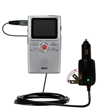 Car & Home 2 in 1 Charger compatible with the RCA EZ3000 Small Wonder HD Camcorder