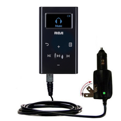 Car & Home 2 in 1 Charger compatible with the RCA M2204 Lyra Digital Audio Player