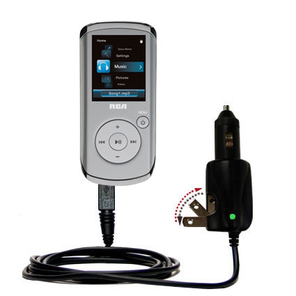 Car & Home 2 in 1 Charger compatible with the RCA M4108 Digital Music Player