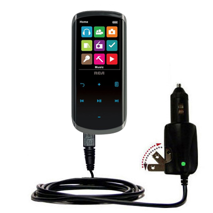 Car & Home 2 in 1 Charger compatible with the RCA M4608 Lyra Digital Media Player