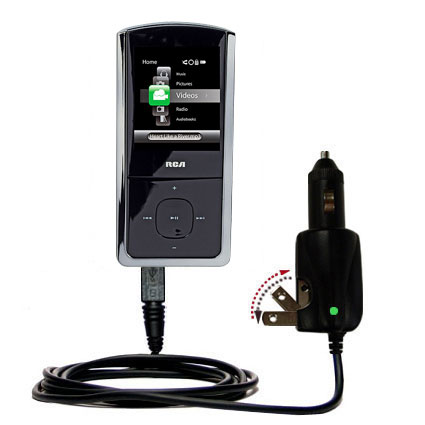 Car & Home 2 in 1 Charger compatible with the RCA MC4302 MC4304MC4308 Digital