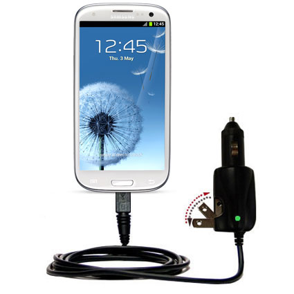 Car & Home 2 in 1 Charger compatible with the Samsung Galaxy S III