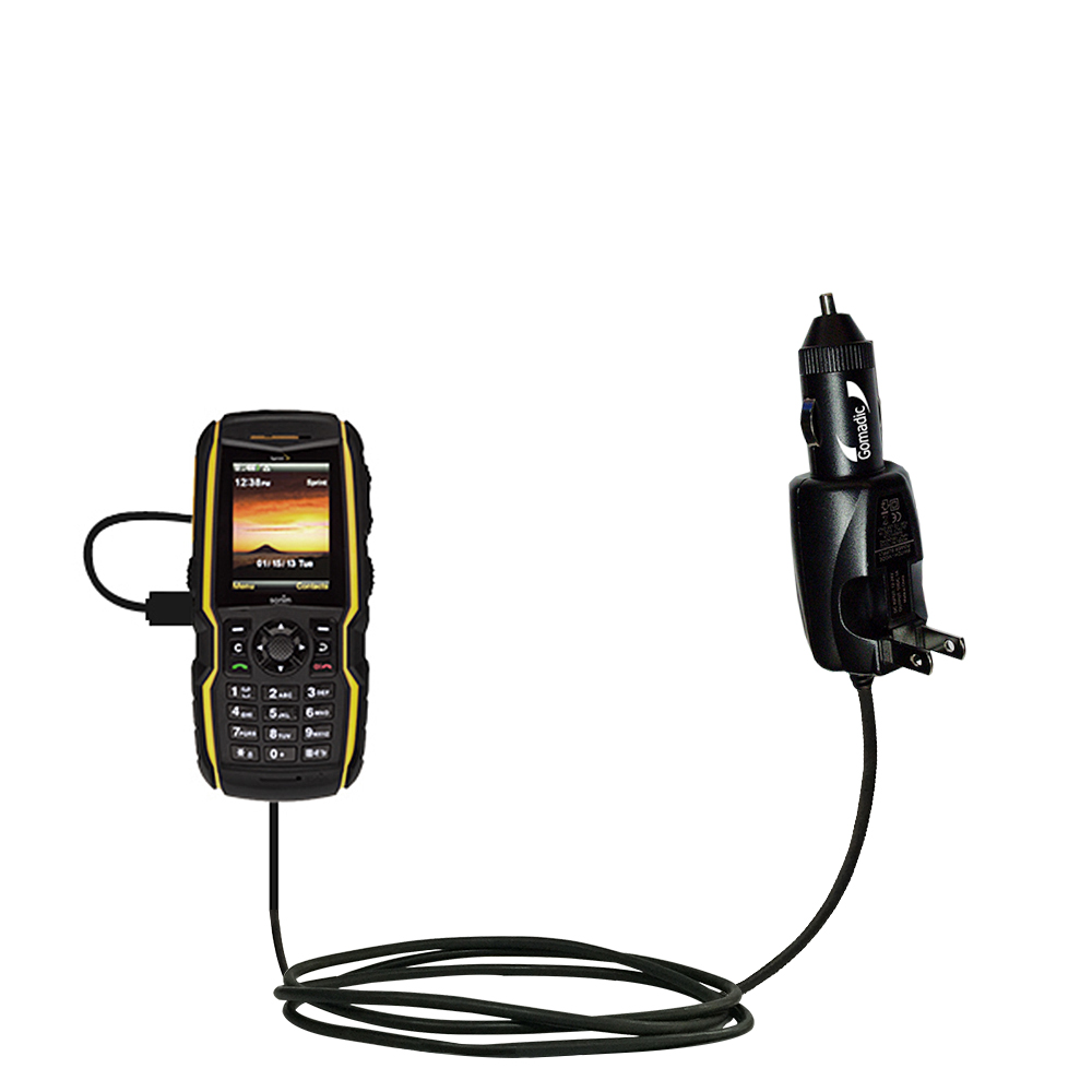 Gomadic Dual DC Vehicle Auto Mini Charger designed for the Sony Alpha a5100 Uses Gomadic TipExchange to charge multiple devices in your car a5000