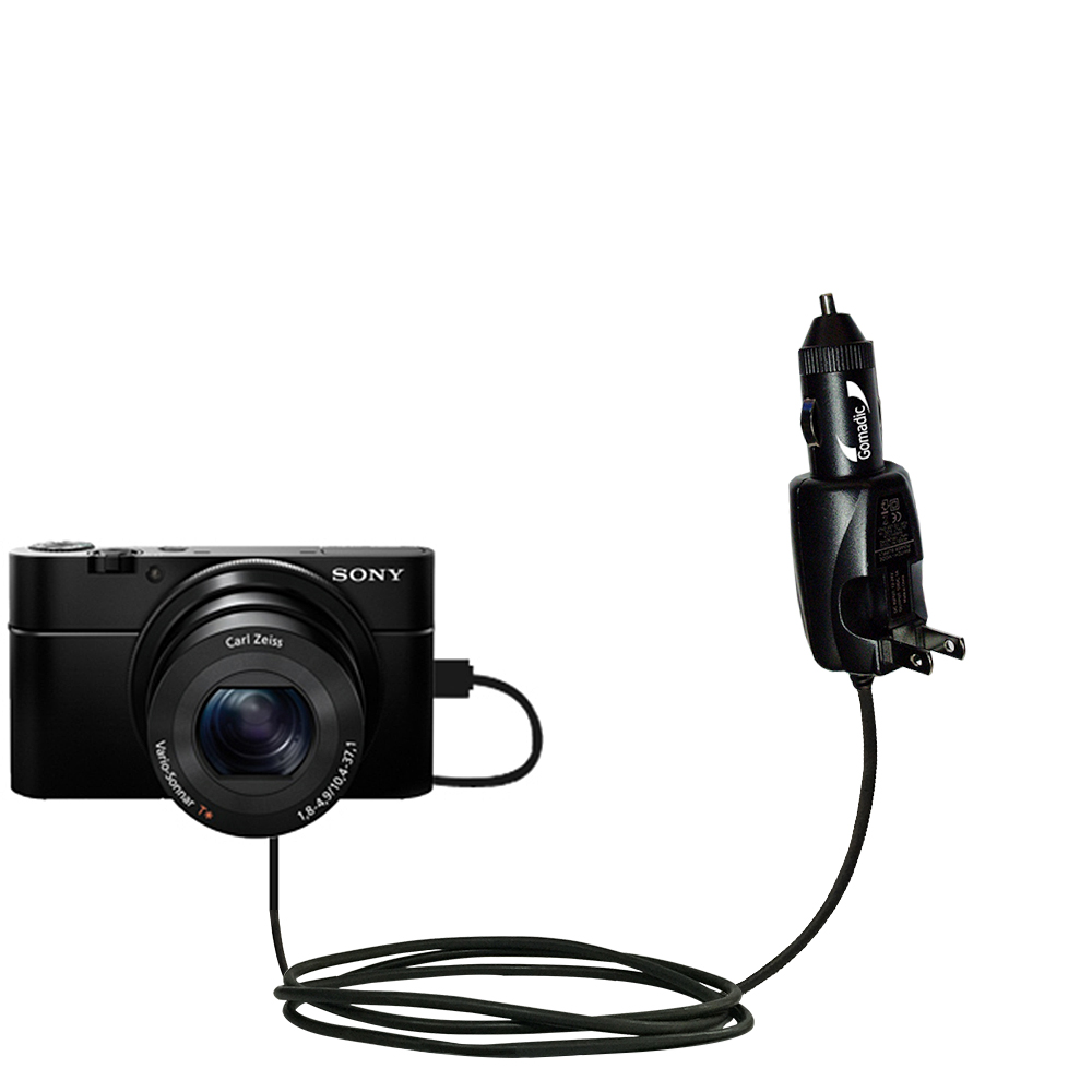Car & Home 2 in 1 Charger compatible with the Sony Cybershot DSC-RX100