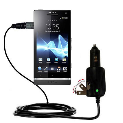 Car & Home 2 in 1 Charger compatible with the Sony Ericsson Xperia S