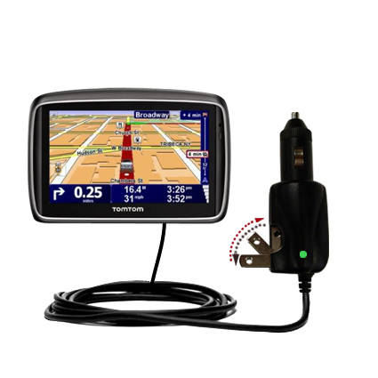 Car & Home 2 in 1 Charger compatible with the TomTom 740