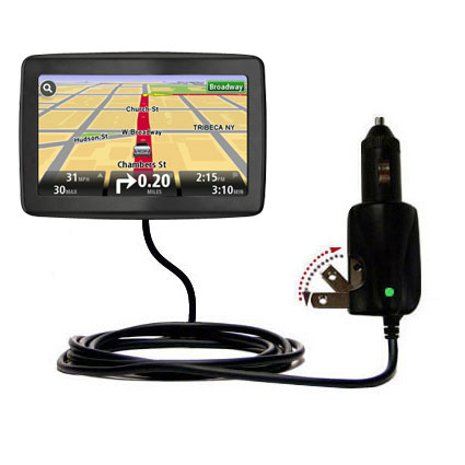 Car & Home 2 in 1 Charger compatible with the TomTom VIA 1500