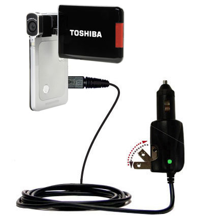BTBAI PX1685 Cargador de Bater/ía AC//DC Wall//Car Single para Toshiba Camileo S20 S20C s20-B Camera 3650