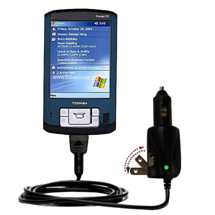 Car & Home 2 in 1 Charger compatible with the Toshiba e805
