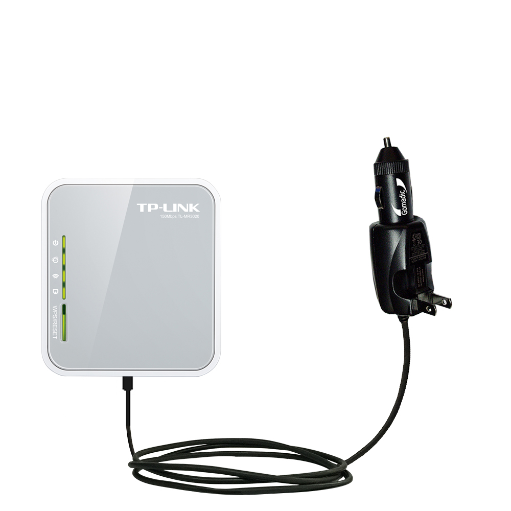 Car & Home 2 in 1 Charger compatible with the TP-Link TL-MR3020