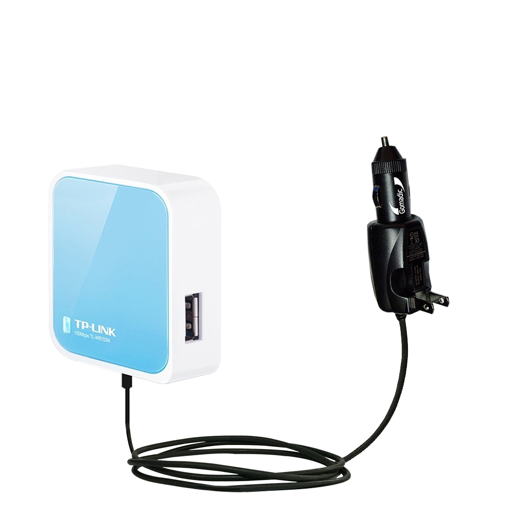 Car & Home 2 in 1 Charger compatible with the TP-Link TL-WR703N