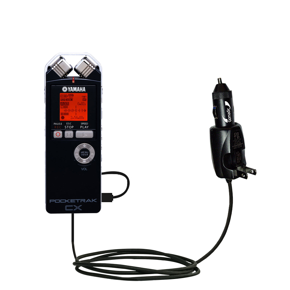 Car & Home 2 in 1 Charger compatible with the Yamaha Pocketrak CX