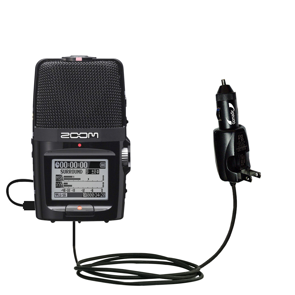 Car & Home 2 in 1 Charger compatible with the Zoom H2n