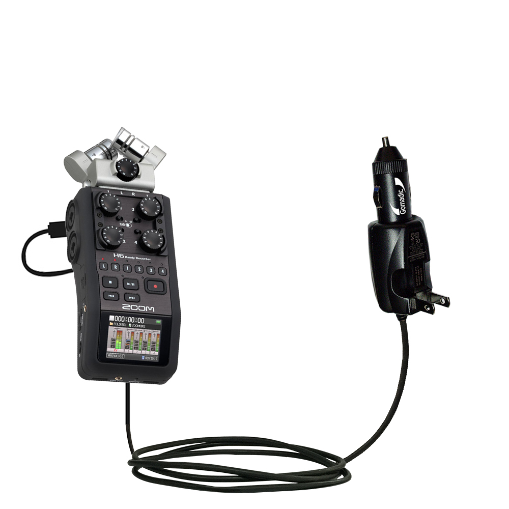 Car & Home 2 in 1 Charger compatible with the Zoom H6