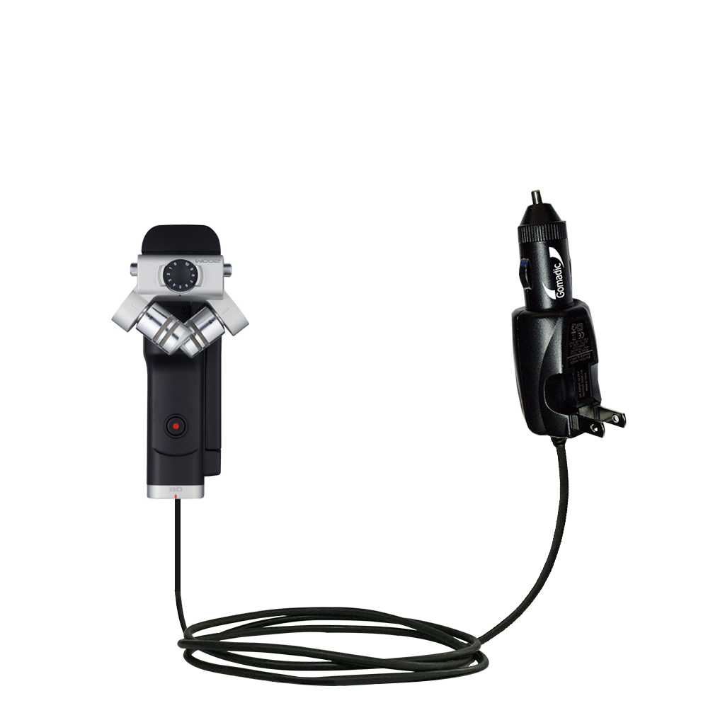 Car & Home 2 in 1 Charger compatible with the Zoom Q8 Handy Video Recorder