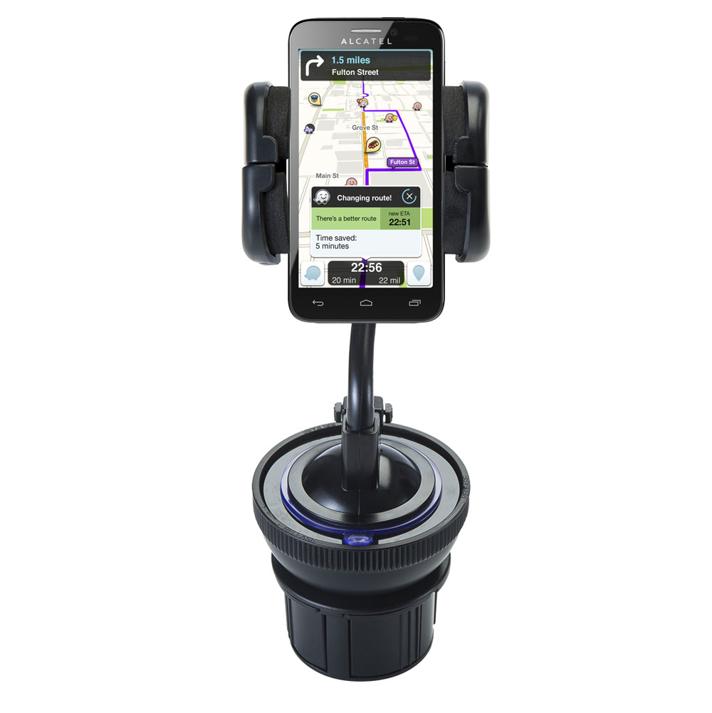 Cup Holder compatible with the Alcatel One Touch Fierce