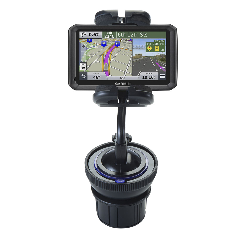 Cup Holder compatible with the Garmin dezl 570 LMT