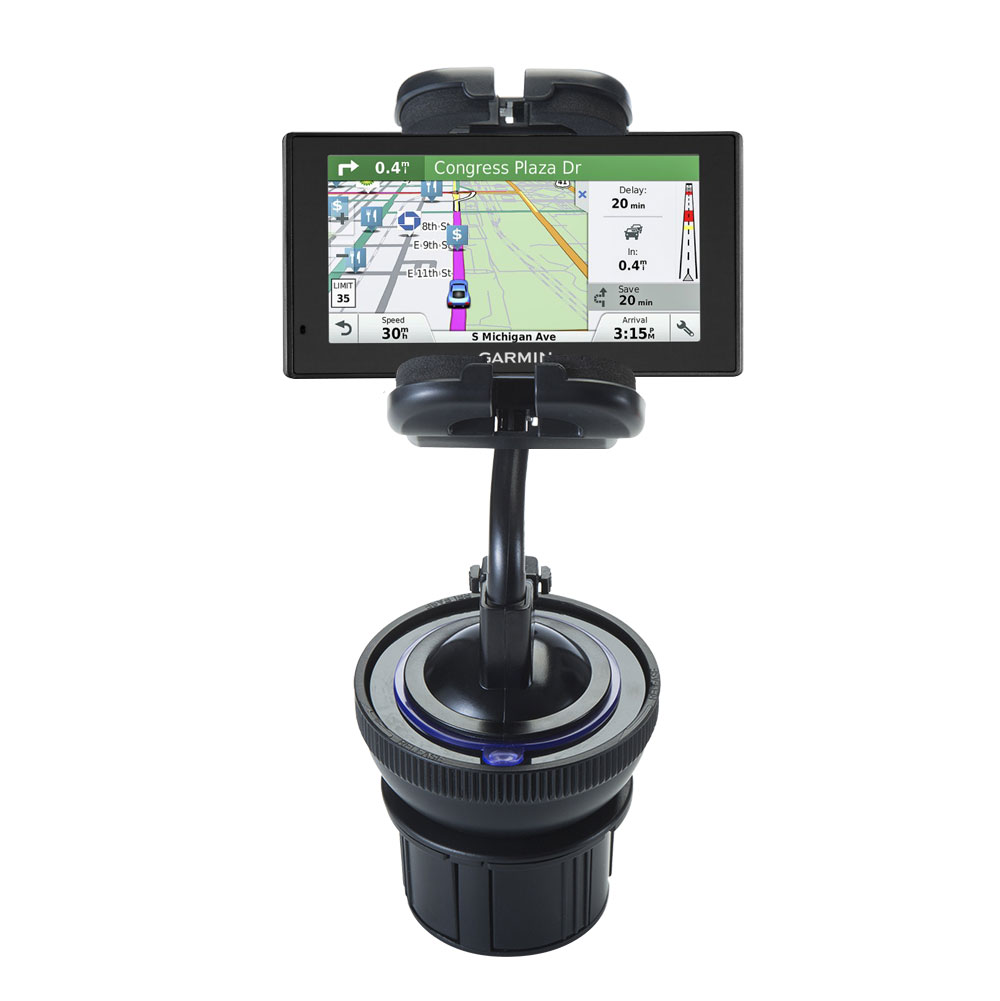 Cup Holder compatible with the Garmin DriveSmart 60LMT