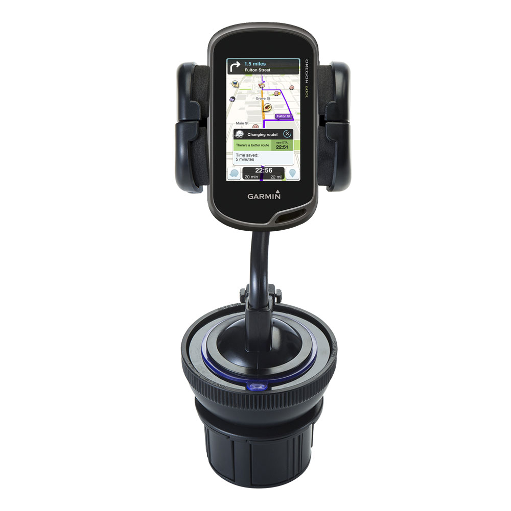 Cup Holder compatible with the Garmin Oregon 600 / 650 / 650t