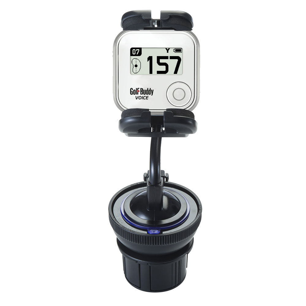Cup Holder compatible with the Golf Buddy Voice GPS Rangefinder