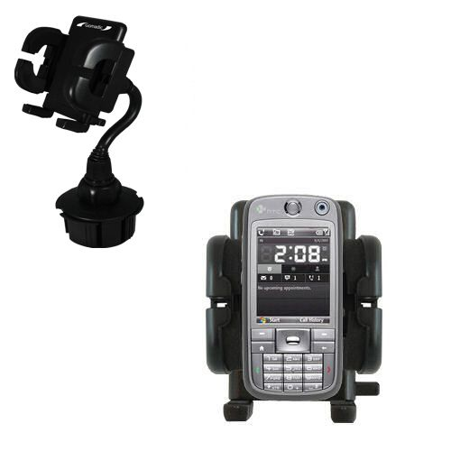 Gomadic Brand Car Auto Cup Holder Mount suitable for the HTC S730 - Attaches to your vehicle cupholder