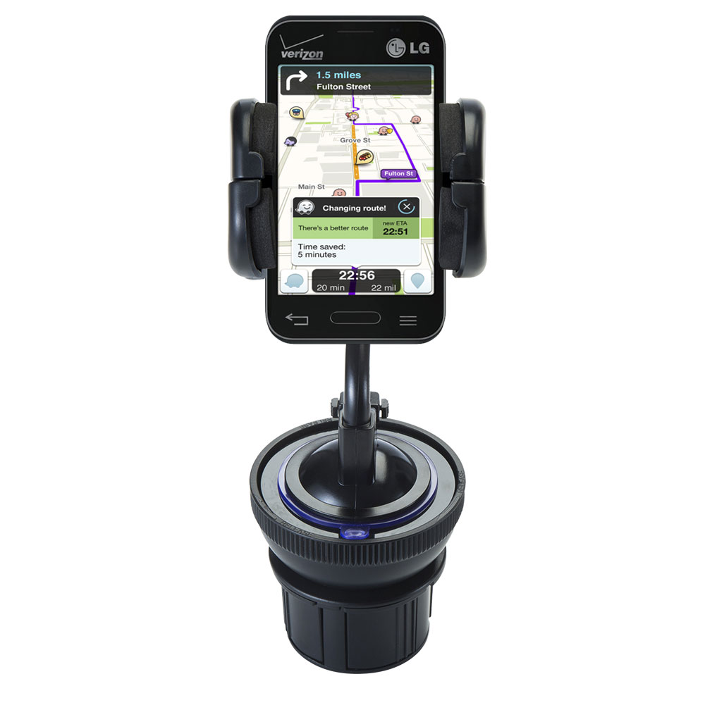 Cup Holder compatible with the LG Optimus Zone 1 / 2