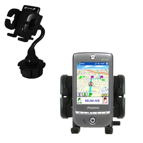 Cup Holder compatible with the Pharos GPS 525E