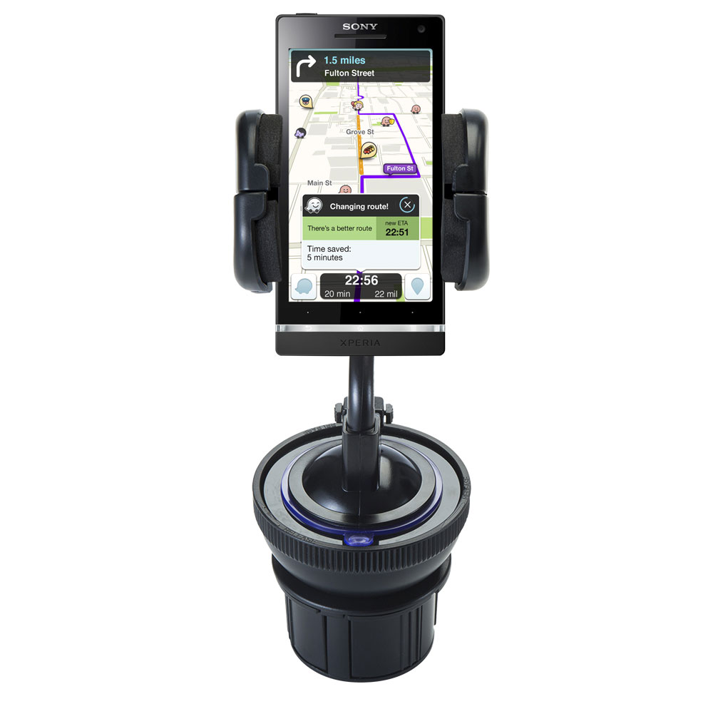 Cup Holder compatible with the Sony Ericsson Xperia S