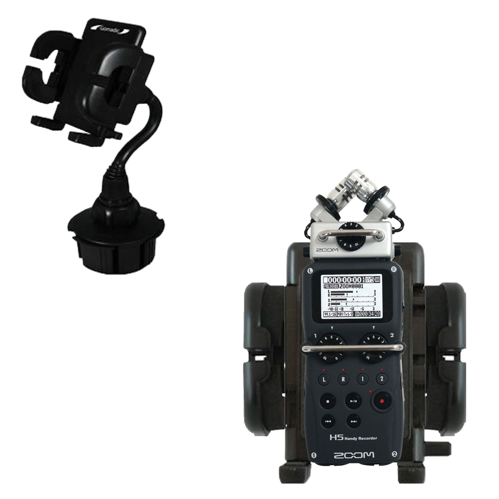 Cup Holder compatible with the Zoom H5 Handy Recorder