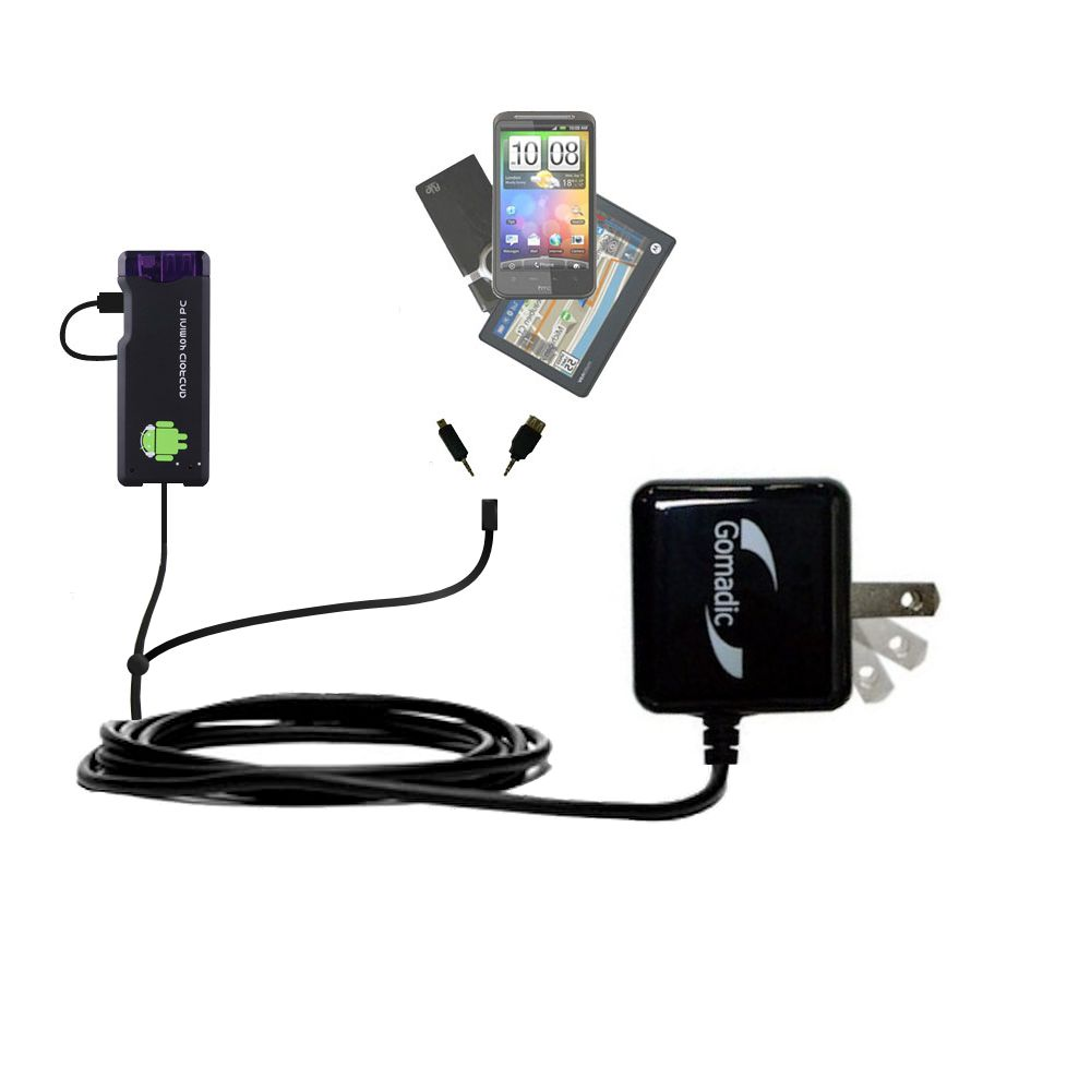 Double Wall Home Charger with tips including compatible with the Android MK802 MK808 Mini PC